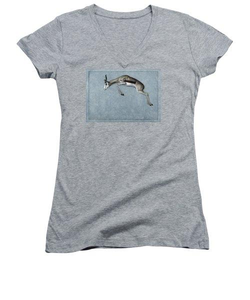 Springbok Women's V-Neck T-Shirt (Junior Cut)