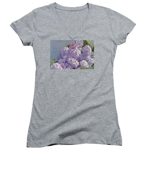Springtime Lilacs Women's V-Neck (Athletic Fit)