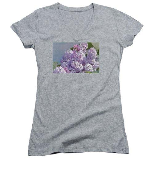 Springtime Lilacs Women's V-Neck T-Shirt