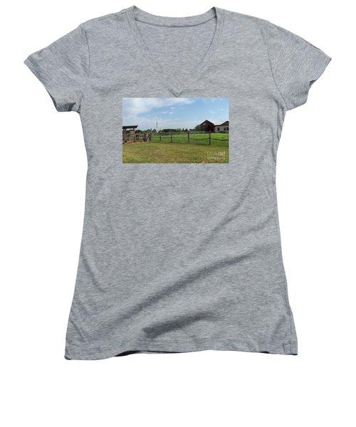 Springtime Serenity Women's V-Neck T-Shirt (Junior Cut) by Susan Williams