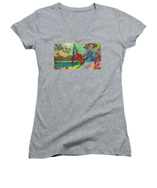 Springtime Women's V-Neck