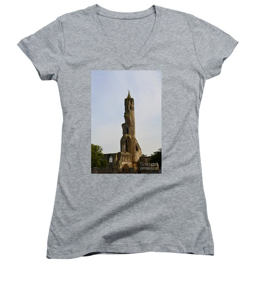 St Andrew's Cathedral Ruins Women's V-Neck T-Shirt