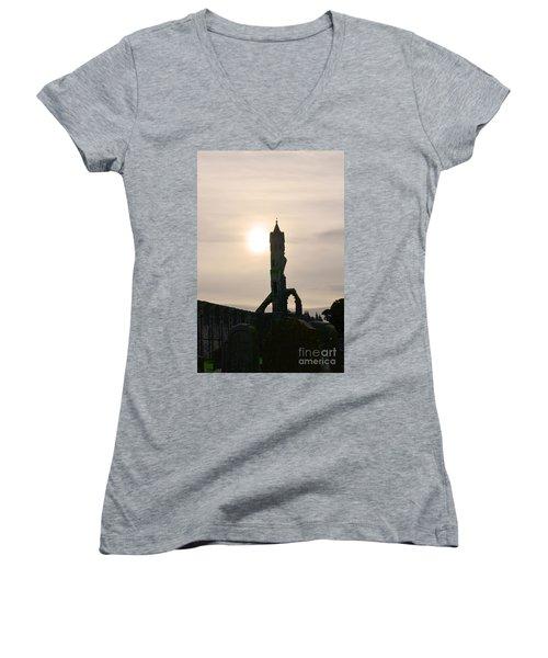 St Andrews Scotland At Dusk Women's V-Neck T-Shirt (Junior Cut) by DejaVu Designs