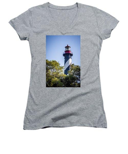 St. Augustine Lighthouse Women's V-Neck
