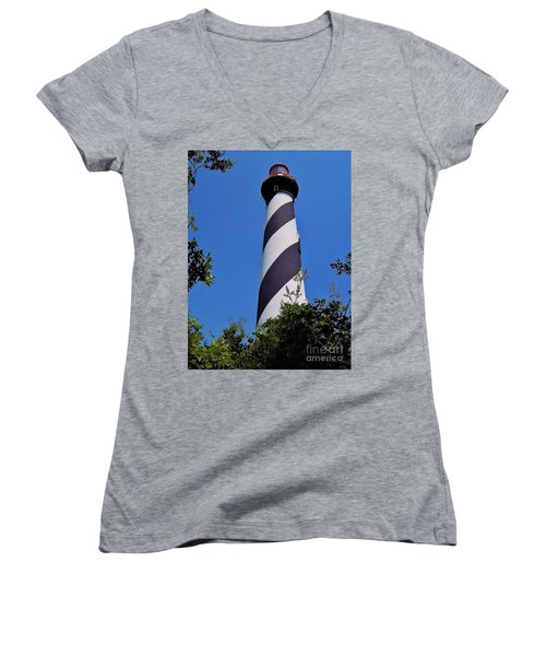 St Augustine Lighthouse Women's V-Neck