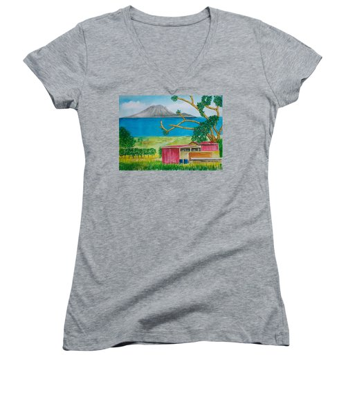 St. Eustatis From St. Kitts Women's V-Neck