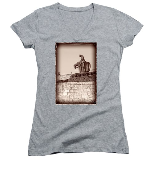 St Francis Returns From Crusades Women's V-Neck