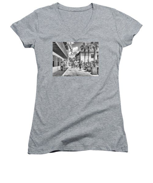 Women's V-Neck featuring the photograph St. Geroge Street by Howard Salmon