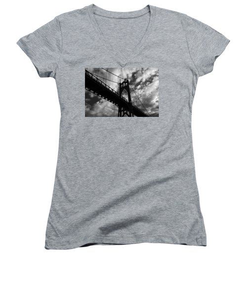 St Johns Bridge Women's V-Neck