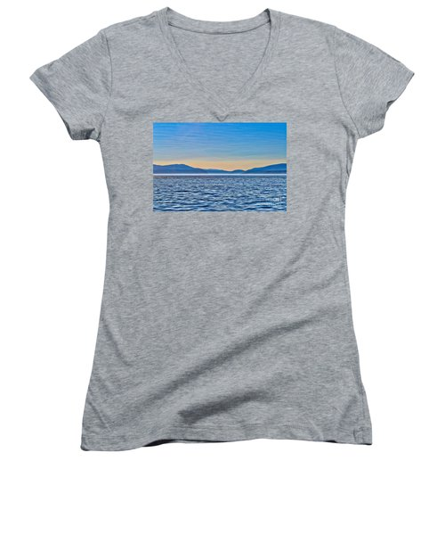St. Lawrence Seaway Women's V-Neck T-Shirt