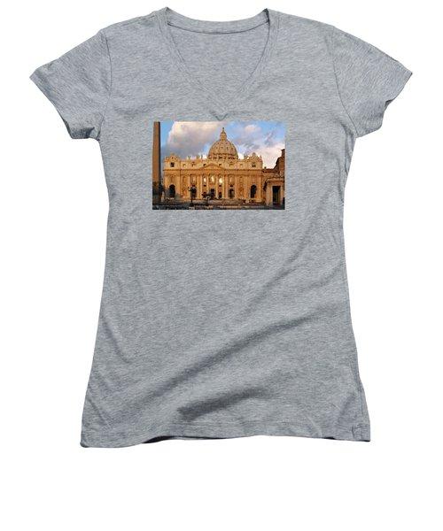 St. Peters Basilica Women's V-Neck