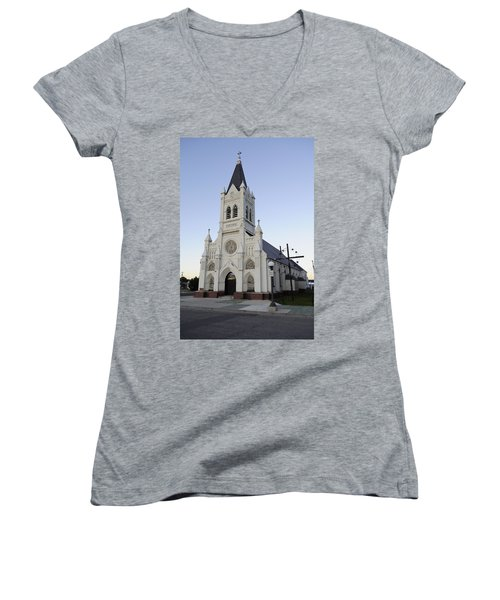 Women's V-Neck T-Shirt (Junior Cut) featuring the photograph St. Peter's by Fran Riley
