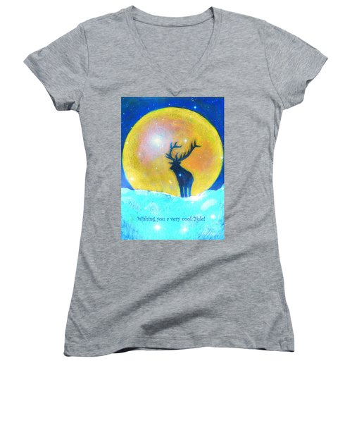 Stag Of Winter Women's V-Neck (Athletic Fit)