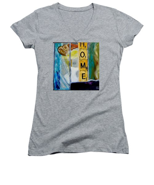 Stained Glass Home Women's V-Neck