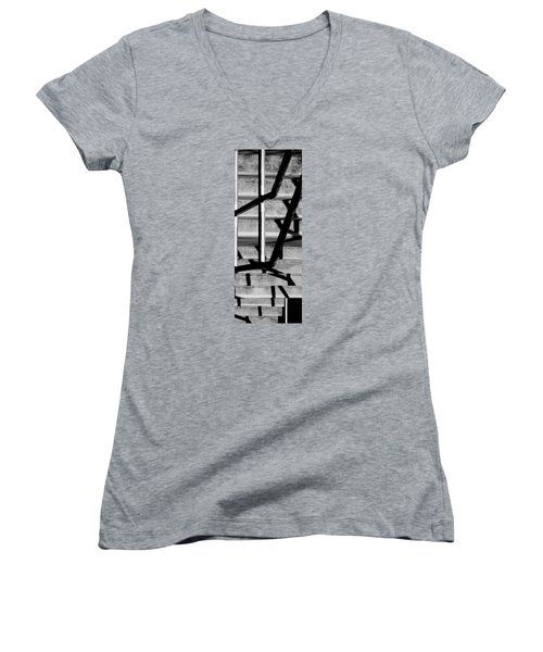 Women's V-Neck T-Shirt (Junior Cut) featuring the photograph Stairs by Caitlyn  Grasso