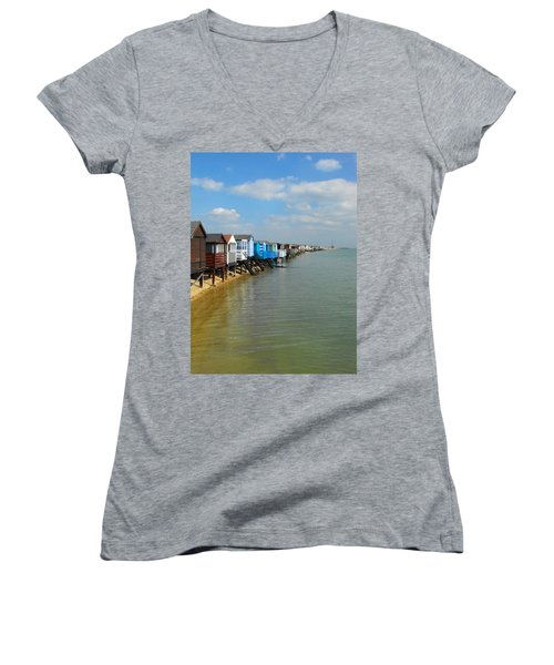 Stairs To Sea Women's V-Neck