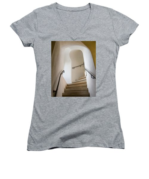 Stairway To Heaven Women's V-Neck T-Shirt (Junior Cut) by William Beuther