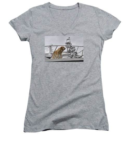 Standing Guard Women's V-Neck (Athletic Fit)