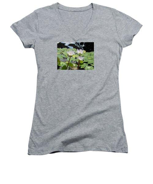 Women's V-Neck T-Shirt (Junior Cut) featuring the photograph Standing Tall by Chrisann Ellis
