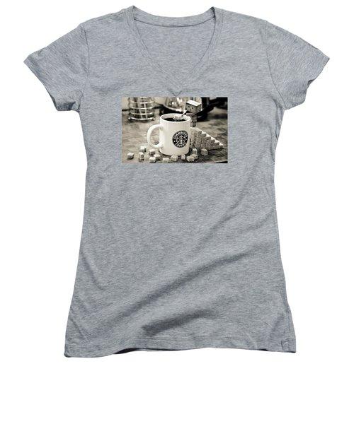 Star Of The Bucks Women's V-Neck T-Shirt (Junior Cut) by Gianfranco Weiss