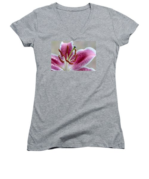 Stargazer Lily Women's V-Neck (Athletic Fit)