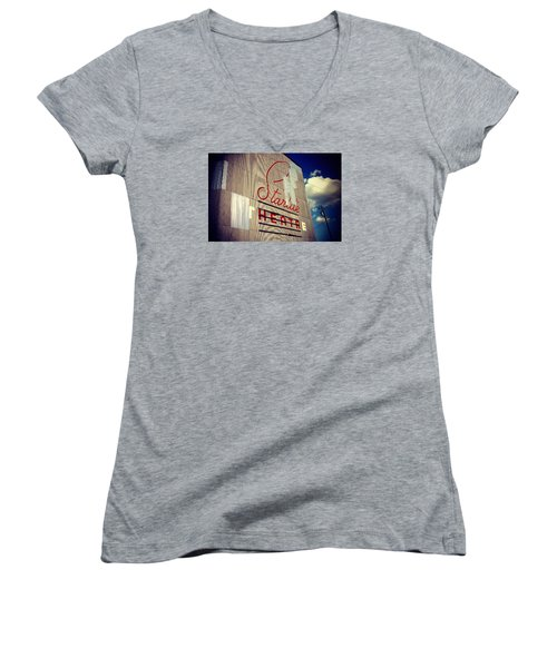 Starlite  Women's V-Neck T-Shirt (Junior Cut) by Trish Mistric
