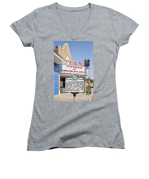 Stax Women's V-Neck T-Shirt (Junior Cut) by Liz Leyden
