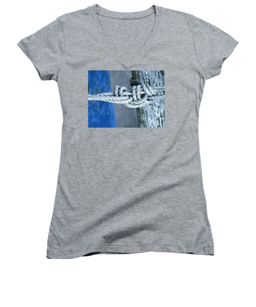 Women's V-Neck T-Shirt (Junior Cut) featuring the photograph Stay by Brian Boyle