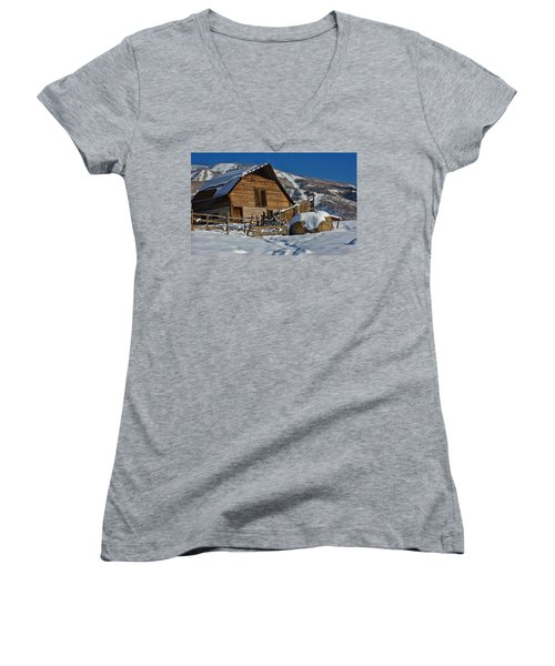 Steamboat Barn Women's V-Neck T-Shirt