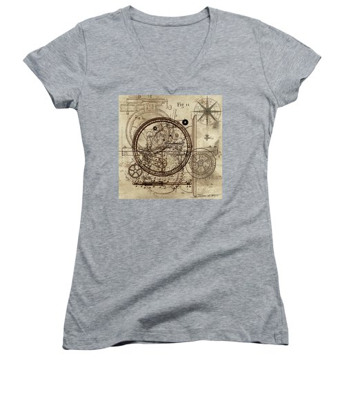 Steampunk Dream Series IIi Women's V-Neck T-Shirt (Junior Cut)