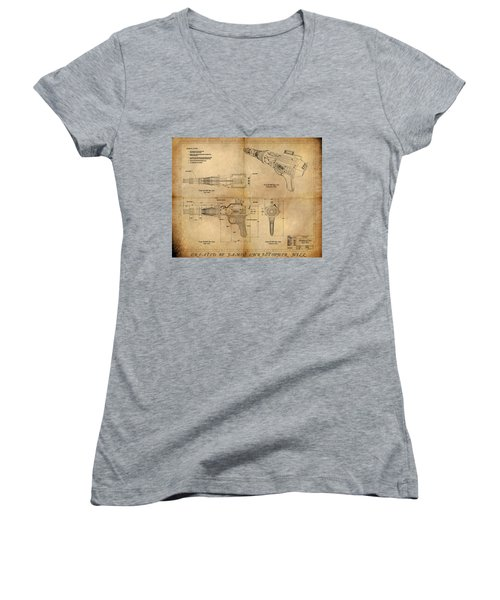 Steampunk Raygun Women's V-Neck (Athletic Fit)