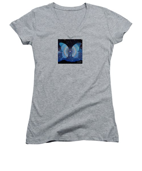 Stellar Butterfly Women's V-Neck