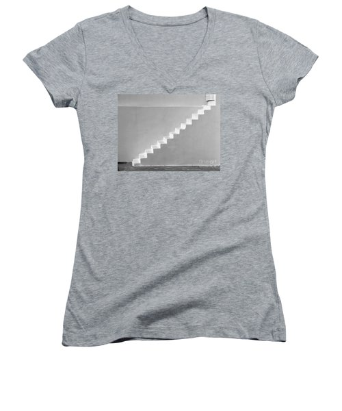 Women's V-Neck T-Shirt (Junior Cut) featuring the photograph Steps To Heaven by Ana Maria Edulescu