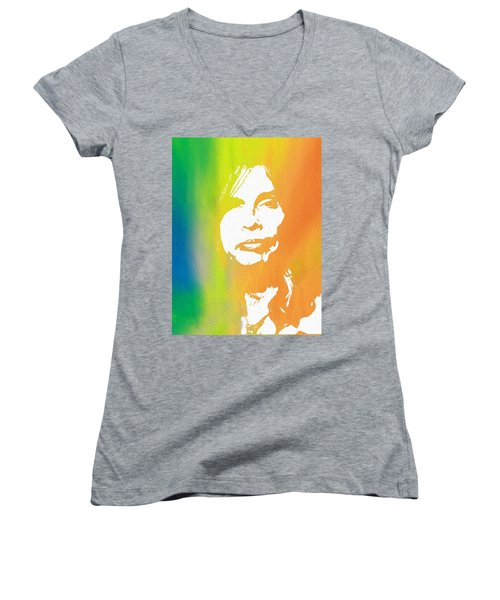 Steven Tyler Canvas Women's V-Neck T-Shirt