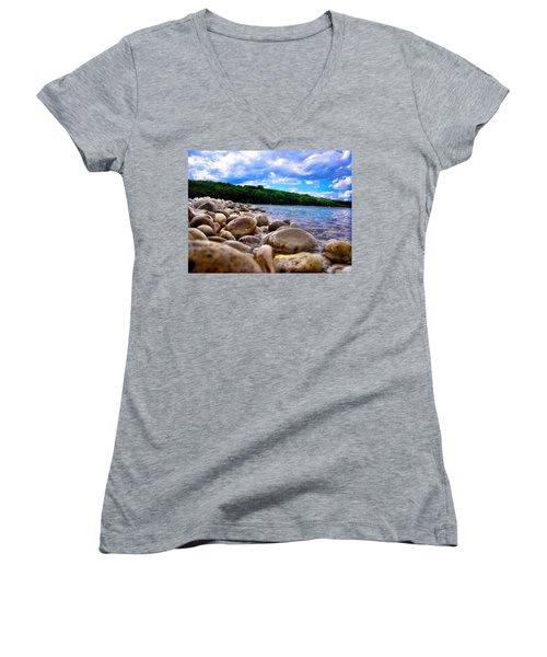 Stone Beach Women's V-Neck T-Shirt