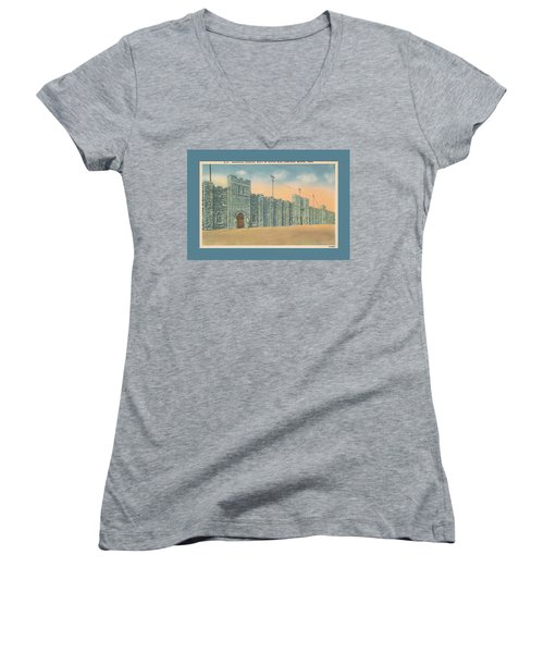 Stone Castle Bristol Tn Built By Wpa Women's V-Neck (Athletic Fit)