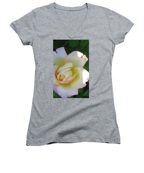 Stop And Smell Women's V-Neck (Athletic Fit)