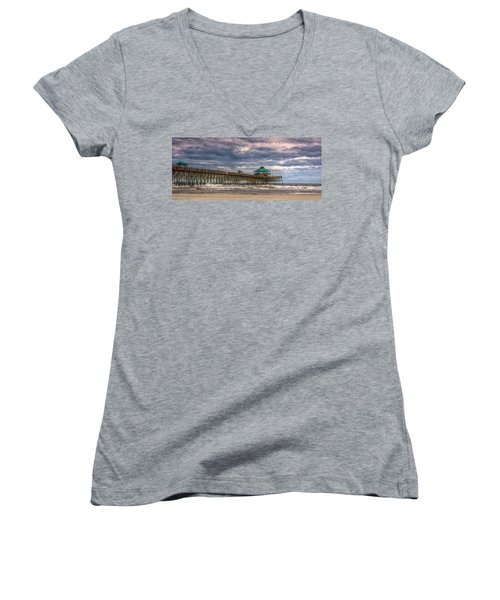Storm Clouds Approaching - Hdr Women's V-Neck (Athletic Fit)