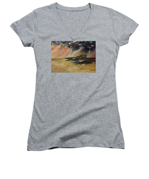 Storm In The Heartland Women's V-Neck