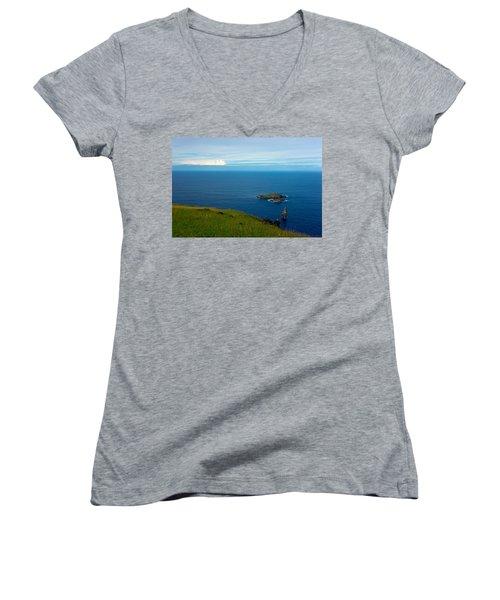 Storm On The Horizon Women's V-Neck T-Shirt