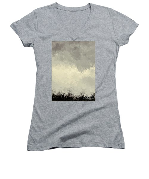 Storm Over A Cornfield Women's V-Neck (Athletic Fit)