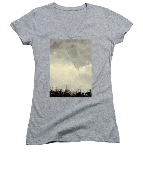 Storm Over A Cornfield Women's V-Neck T-Shirt
