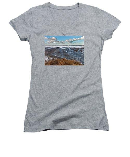 Stormy Beach Women's V-Neck T-Shirt