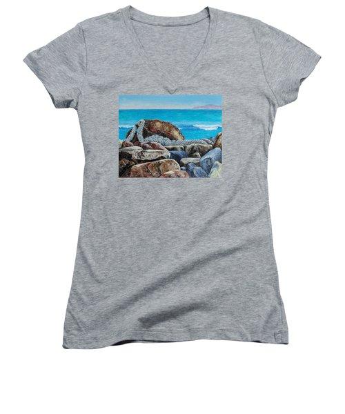 Stranded Women's V-Neck T-Shirt (Junior Cut)
