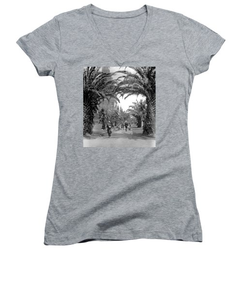 Avenue Of The Palms, San Francisco Women's V-Neck
