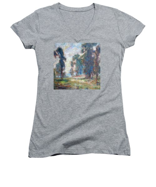 Study Of An Impressionist Master Women's V-Neck