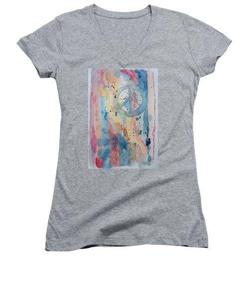 Subtle Peace Women's V-Neck T-Shirt