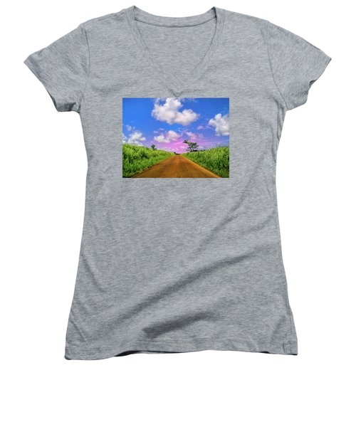 Sugar Cane Sunrise Women's V-Neck