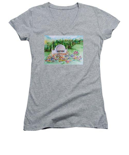 Summer Concert In The Park Women's V-Neck T-Shirt