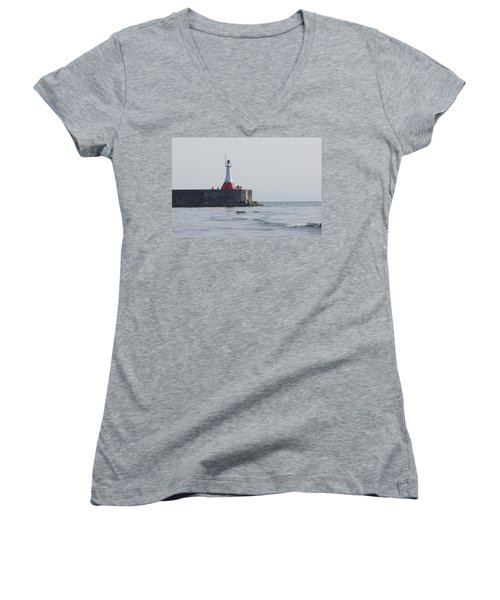 Women's V-Neck T-Shirt (Junior Cut) featuring the photograph Summer Day by Marilyn Wilson